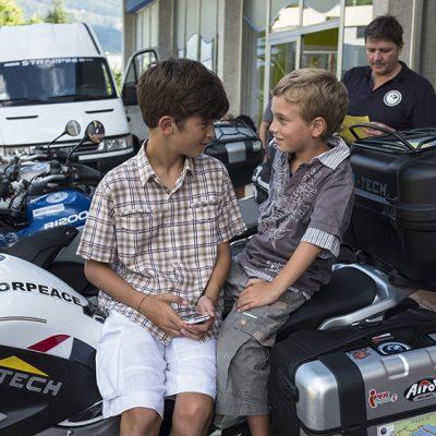inaugurazione MotoForPeace Alto Adige 2015