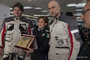 MfP consegna targhe accademia Polizia Federale di San Luis de Potosi