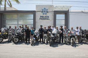 Motoforpeace con capo Polizia Campeche Messico