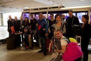 partenza Missione MotoForPeace 2016